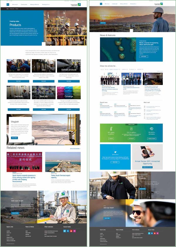 Saudi Aramco: Recharged Website Offering a Captivating Welcome