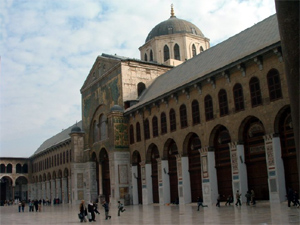 Omayyad Mosque in Damascus.
