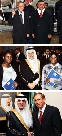 <Saudi Arabian Ambassadors Bandar, Turki, and Al-Jubeir