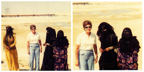 Colleen with Bedouin Women