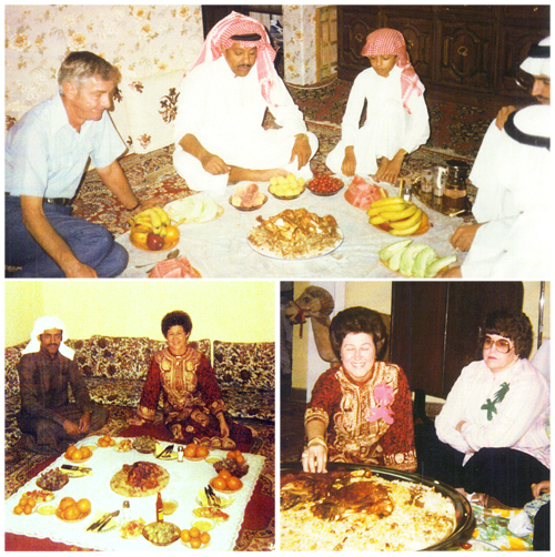 Oran and Colleen during special functions in Arab homes