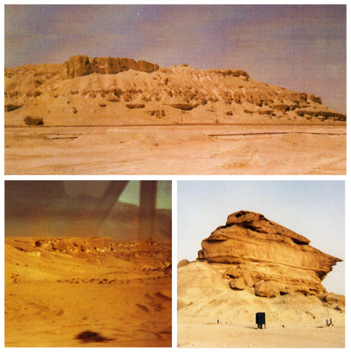 Rock formations and barren desert