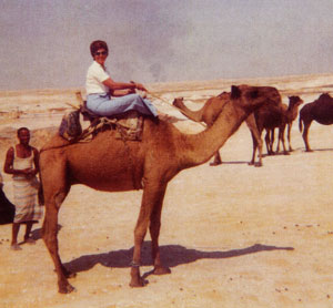 Colleen Wilson Riding Camel