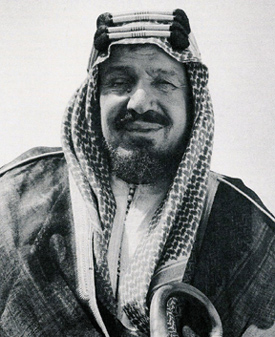 His Majesty King 'Abd al 'Aziz ibn 'Abd al-Rahman al Faisal al Sa'ud, King of Saudi Arabia, who died on November 9, 1953.