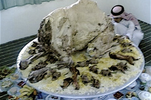 A traditional Arab feast