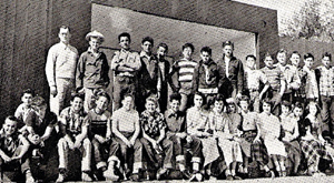 Susan Webster's eighth grade class at Dhahran Senior Staff School, 1954