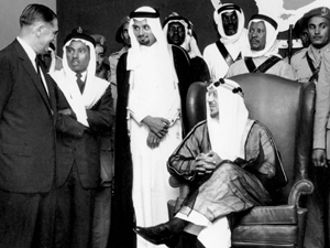 Fred A. Davies meets with King Saud