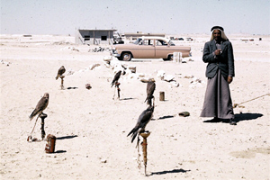 King Saud's hunting party