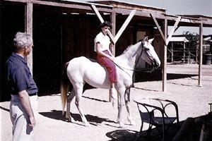 Judy Austin, rides Susan's horse, Nejma