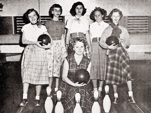 "Dhahran Senior Staff ""First String"" Girls' Bowling Team"