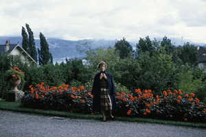 Susan Webster in Switzerland, 1954.