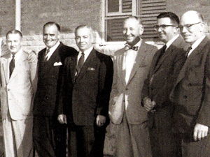 Additional top Aramco management, photographed in Dhahran on March 17, 1955.