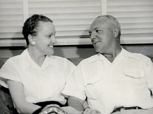 Lynn Webster, left, and her husband, Allyn
