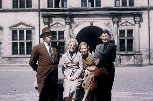 The Webster Family at Kronberg Castle in Denmark.