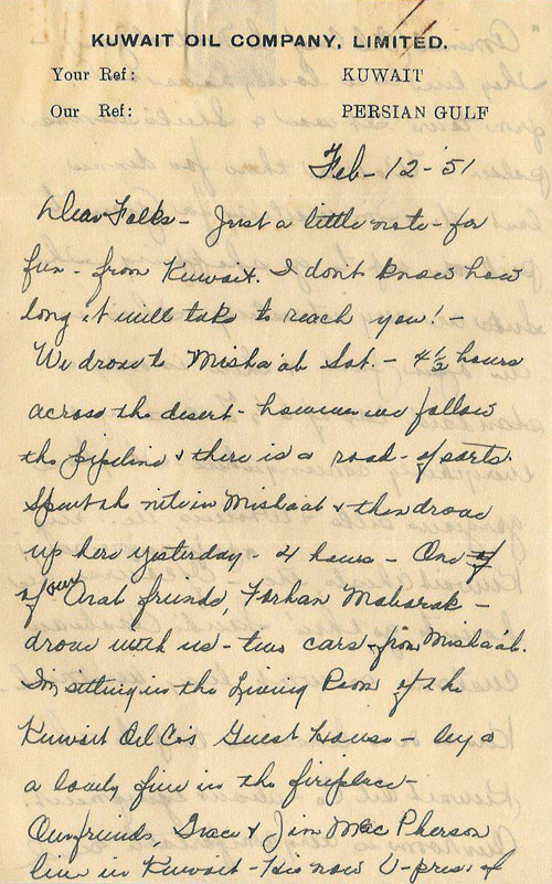 Mildred Webster's Letter