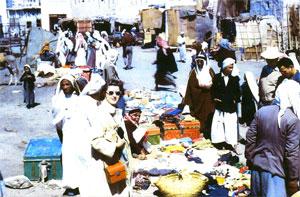 Aramco Annuitant Colleen Wilson shops in Al-Khobar
