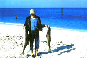Aramco Annuitant Francis Schmidt Displays His Catch