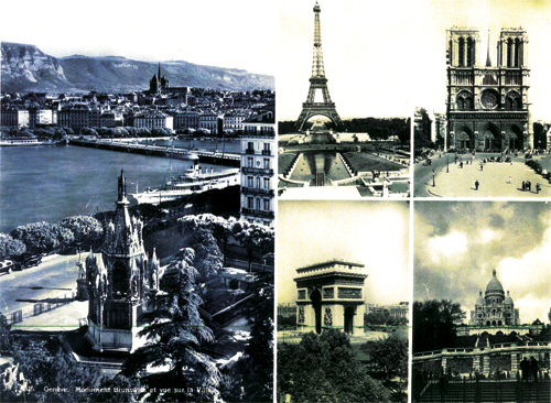 French landmarks visited by the Wilsons