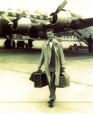 Oran Wilson Disembarking Aramco Plane